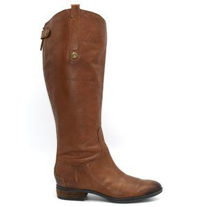 Sam Edelman Penny Riding Boot Whiskey Leather 8